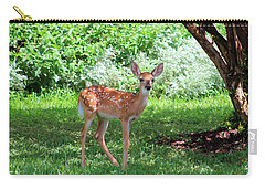 Whited-tailed Fawn - Face Of Innocence 2 Carry-all Pouch by Ella Kaye Dickey