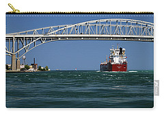 Whitefish Bay And Blue Water Bridge Carry-all Pouch