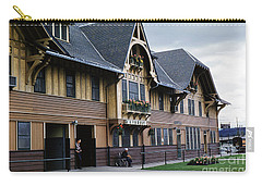 Whitefish Train Depot Montana Carry-all Pouch by Wernher Krutein