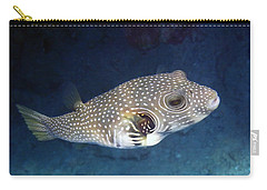 Whitespotted Pufferfish Closeup Carry-all Pouch