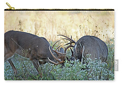 Whitetail Battle In Cades Cove Carry-all Pouch