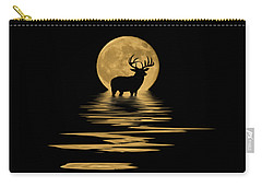 Whitetail Deer In The Moonlight Carry-all Pouch