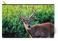 Carry-all Pouch featuring the photograph Whitetail Deer Panting by Thomas R Fletcher