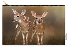 Whitetail Fawn Twins Carry-all Pouch