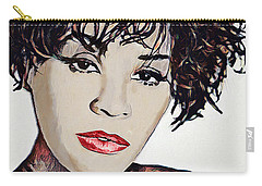 Carry-all Pouch featuring the digital art Whitney by Pennie McCracken