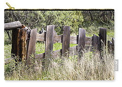 Carry-all Pouch featuring the photograph Who Ate The Fence by Phyllis Denton
