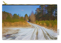 Snow Covered Lane Carry-all Pouch