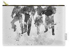 Who You Meet Along The Way Black And White Carry-all Pouch