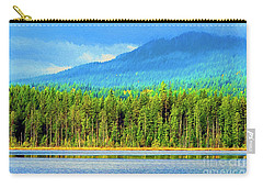 Carry-all Pouch featuring the photograph Whonnock Lake Mountain Photo Art by Sharon Talson