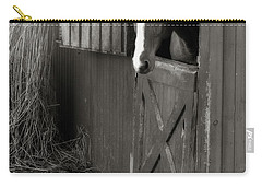 Carry-all Pouch featuring the photograph Why Did The Guinea Hen Cross The Road - Sepia by Angela Rath