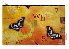 Carry-all Pouch featuring the mixed media Why by Gloria Rothrock