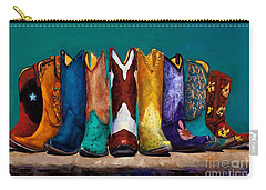 Why Real Men Want To Be Cowboys 2 Carry-all Pouch by Frances Marino