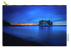 Carry-all Pouch featuring the photograph Whytecliff Sunset by John Poon