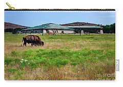 Carry-all Pouch featuring the photograph Wichita Mountain Wildlife Reserve Welcome Center I by Tamyra Ayles