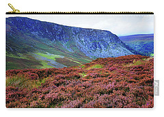 Carry-all Pouch featuring the photograph Wicklow Heather Carpet by Jenny Rainbow