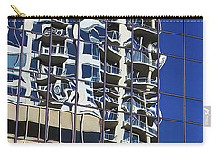 Carry-all Pouch featuring the photograph Wiggly Balconies by Phyllis Denton