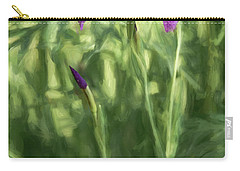 Carry-all Pouch featuring the photograph Wild Alaskan Iris II by Penny Lisowski
