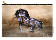 Wild And Free Horse Art Carry-all Pouch by Shanina Conway