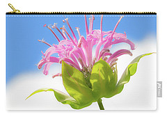 Wild Bergamot Or  Bee Balm Carry-all Pouch by Jim Hughes