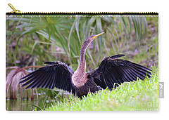 Carry-all Pouch featuring the photograph Wild Birds - Anhinga by Kerri Farley