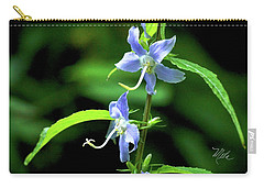 Wild Blue Flowers Carry-all Pouch