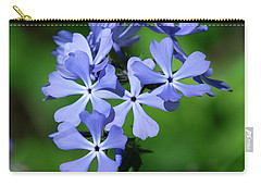 Carry-all Pouch featuring the photograph Wild Blue Phlox Dspf0388 by Gerry Gantt
