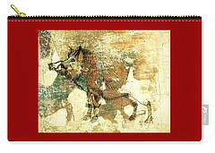Wild Boar Cave Painting 1 Carry-all Pouch by Larry Campbell