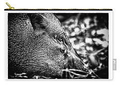 Carry-all Pouch featuring the photograph Wild Boar by Wade Courtney