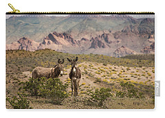 Wild Burros At Lake Mead Carry-all Pouch by Janis Knight
