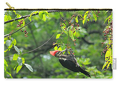Carry-all Pouch featuring the photograph Wild Cherry Snack by Tammy Schneider