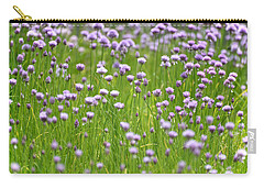 Carry-all Pouch featuring the photograph Wild Chives by Chevy Fleet