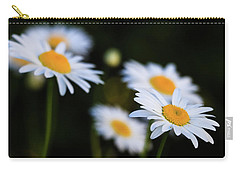 Carry-all Pouch featuring the photograph Wild Daisies by Cristina Stefan