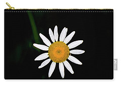 Carry-all Pouch featuring the digital art Wild Daisy by Chris Flees
