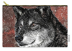 Wild Dark Wolf Carry-all Pouch