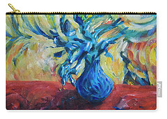 Carry-all Pouch featuring the painting Wild Flower by Yulia Kazansky