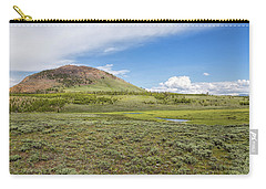 Carry-all Pouch featuring the photograph Wild Flowers And Grasses At Yellowstone by John M Bailey