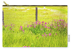 Wild Flowers  By The  Fence Carry-all Pouch