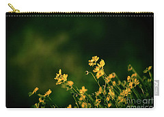Carry-all Pouch featuring the photograph Evening Wild Flowers by Kelly Wade