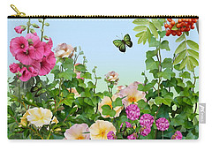 Carry-all Pouch featuring the painting Wild Garden by Ivana Westin