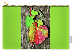 Carry-all Pouch featuring the photograph Wild Grape Vine By Kaye Menner by Kaye Menner