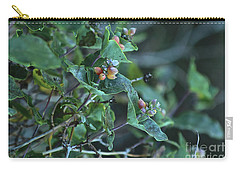 Carry-all Pouch featuring the photograph Wild Honeysuckle by Ann E Robson