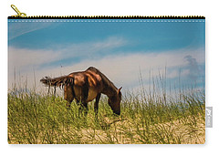 Wild Horse And Dragon Flies Carry-all Pouch