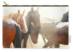 Wild Horses - Australian Brumbies 2 Carry-all Pouch by Lexa Harpell
