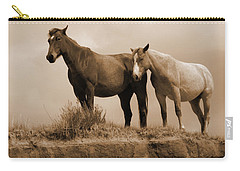 Wild Horses In Western Dakota Carry-all Pouch