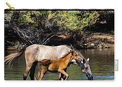 Wild Horses On The Salt River Carry-all Pouch