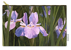 Carry-all Pouch featuring the painting Wild Iris by Laurie Rohner