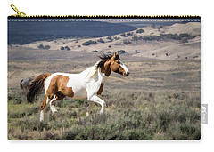 Wild Mustang Stallion On The Move In Sand Wash Basin Carry-all Pouch