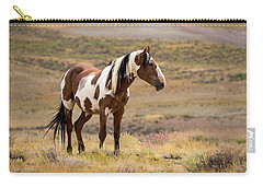 Wild Mustang Stallion Picasso Of Sand Wash Basin Carry-all Pouch