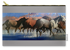 Wild Mustangs Of The Verder River Carry-all Pouch