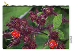 Carry-all Pouch featuring the photograph Wild Raspberries by Ann Jacobson